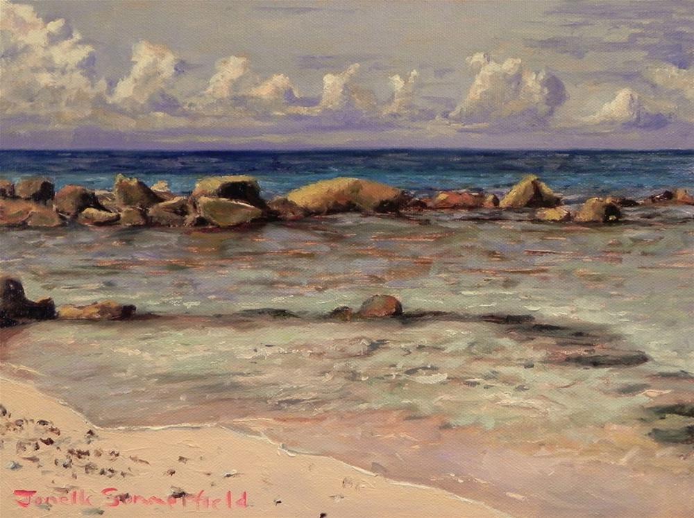 """""""A Beach in Curacao"""" original fine art by Jonelle Summerfield"""