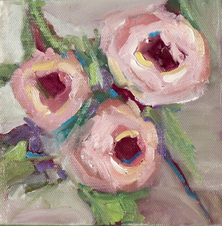 """Three Roses #2 14034"" original fine art by Nancy Standlee"