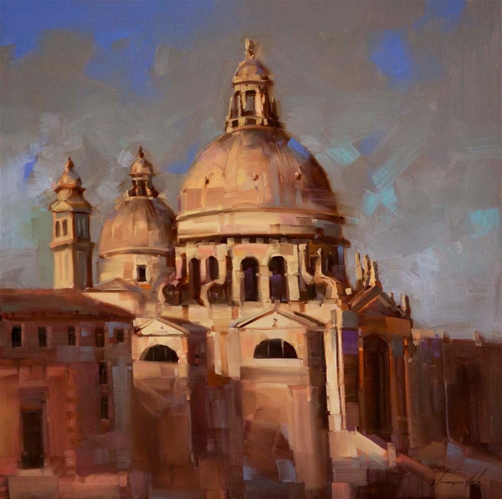 """Venice  City and Architecture"" original fine art by V Y"