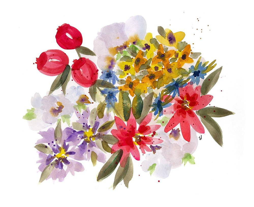 """Farmers Market Bouquet 1"" original fine art by Tonya Doughty"