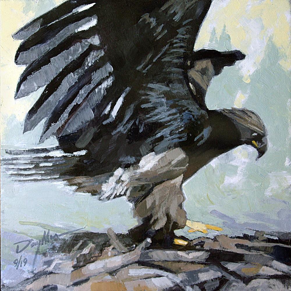 """""""Pre-Fledge Flight Check"""" original fine art by Mike Daymon"""