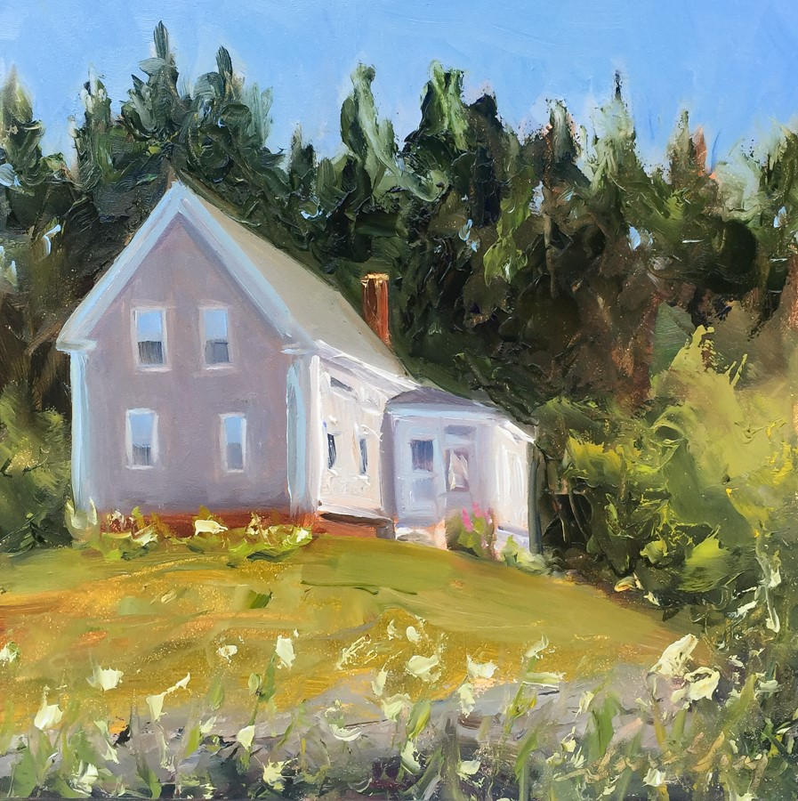 """#156 - House - Two Lights State Park, ME"" original fine art by Sara Gray"
