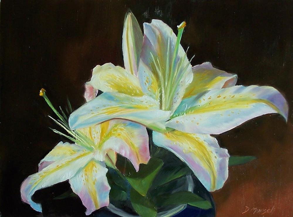 """Yellow Striped Lily"" original fine art by Donna Munsch"