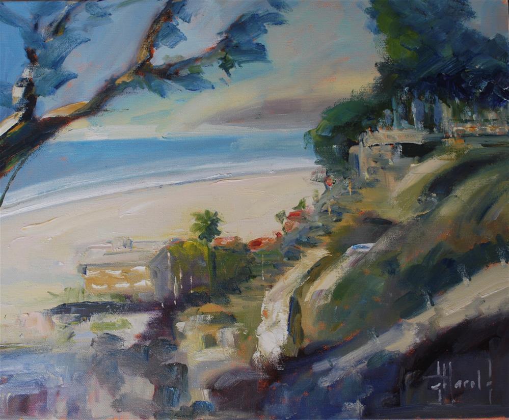 """California Gold, Santa Monica"" original fine art by Deborah Harold"