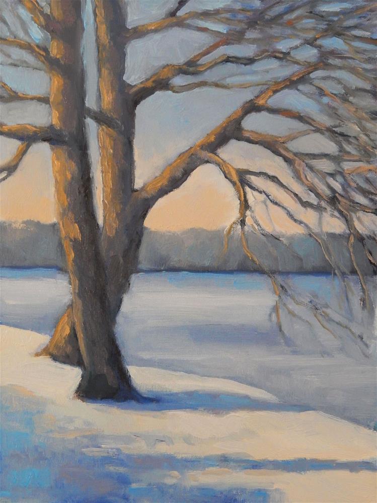 """Snow Dance"" original fine art by Lisa Kyle"
