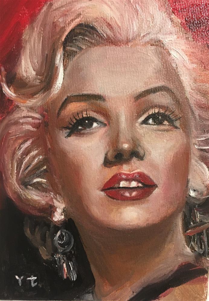 """""""Portrait of Marilyn Monroe 1"""" original fine art by tian yin"""