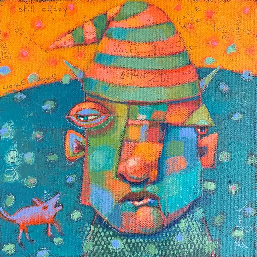"""Saint Barnabas, Holy Watchdog Of All The Feral..."" original fine art by Brenda York"
