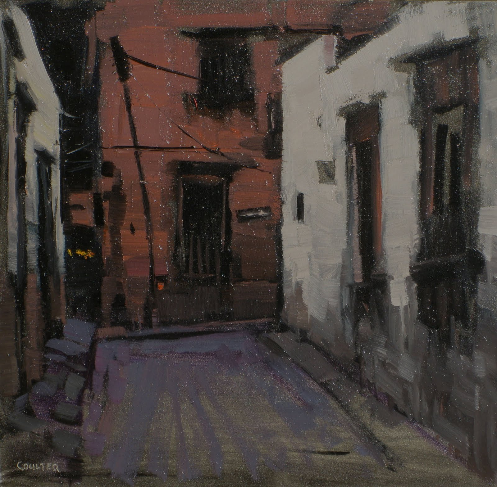 """""""THE DARK ALLEY"""" original fine art by James Coulter"""