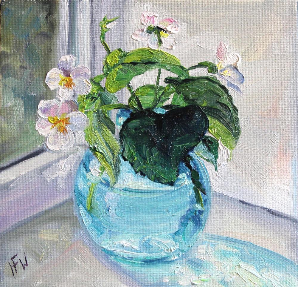 """""""White Violets"""" original fine art by H.F. Wallen"""