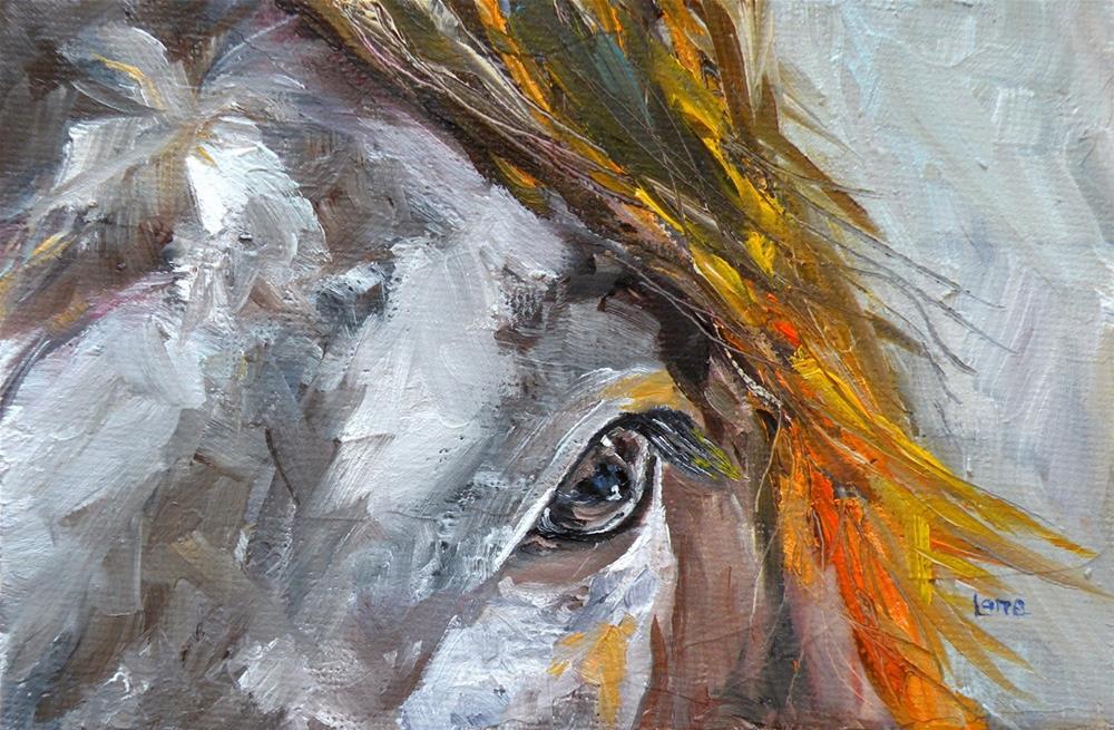 """SUNKISSED - A HORSE ORIGINAL OIL ON CANVAS PANEL"" original fine art by Saundra Lane Galloway"