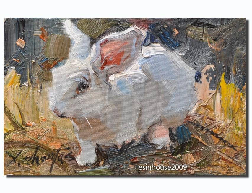 """ rabbit"" original fine art by Thomas Xie"