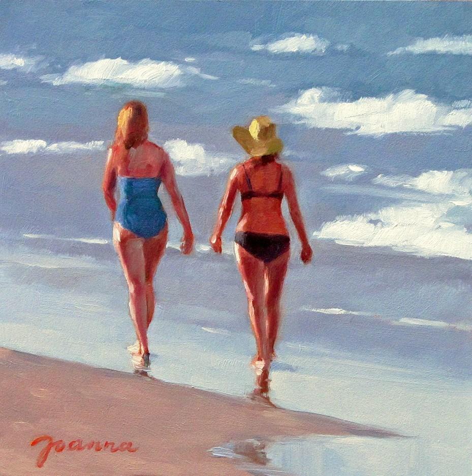 """Sunset Stroll"" original fine art by Joanna Bingham"