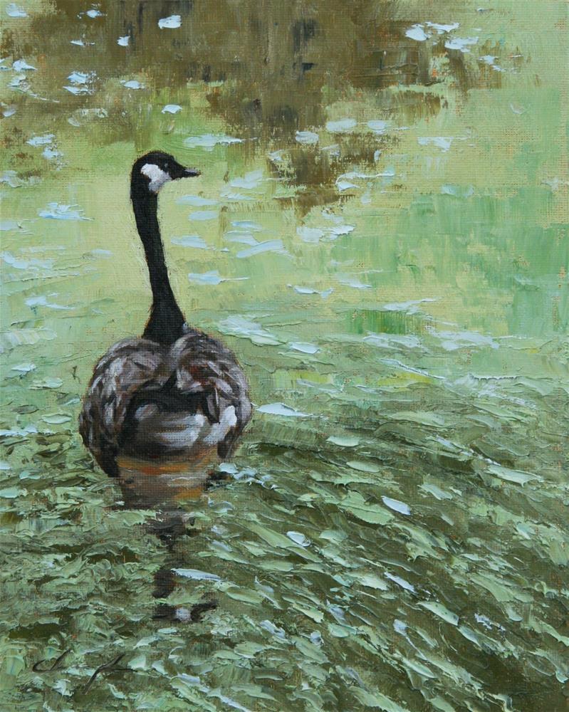 """""""Canadian Goose"""" original fine art by Chuang Liu"""