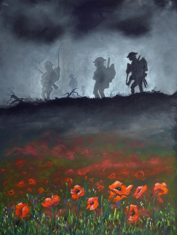 """""""Lest We Forget"""" original fine art by James Humphreys"""