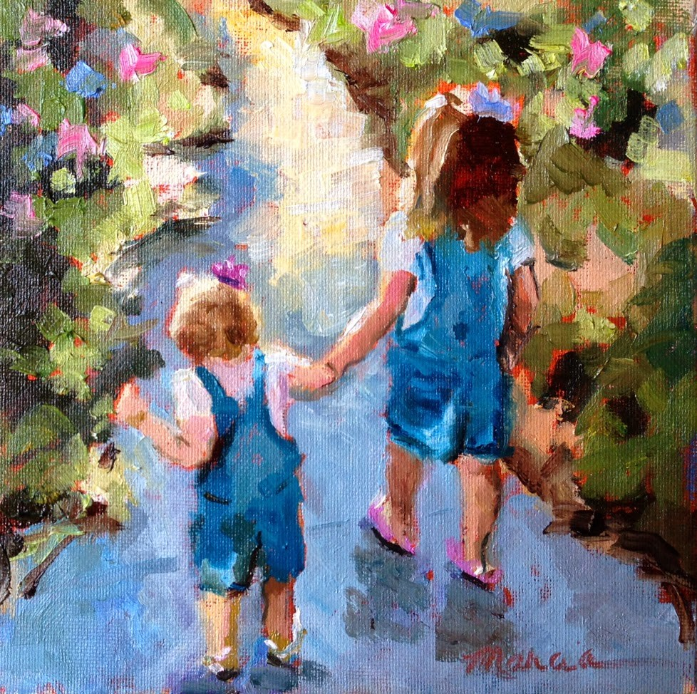 """The Path to Mimi's House"" original fine art by Marcia Hodges"