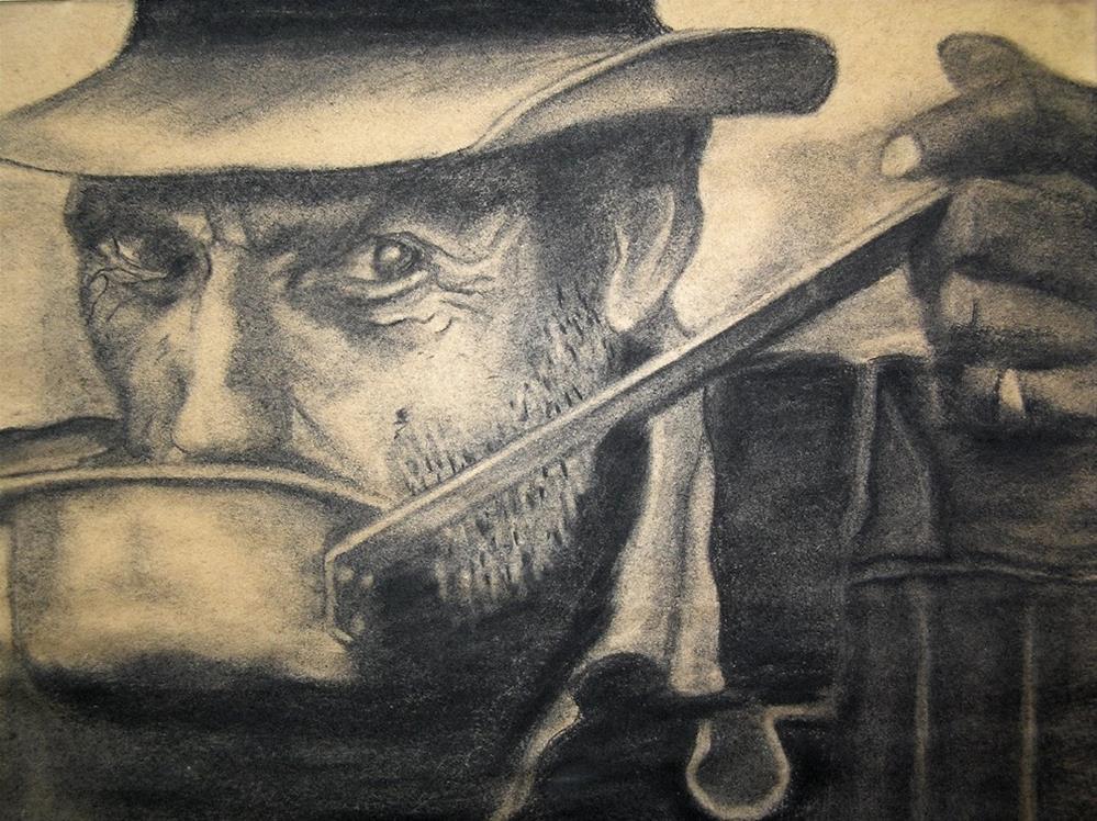 """""""Coal Miner"""" original fine art by G. G. Slockett"""