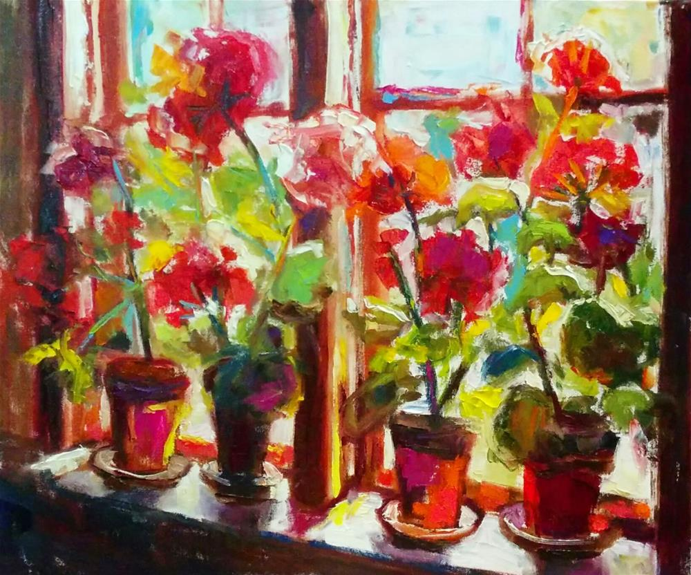 """Country Window"" original fine art by pepa sand"