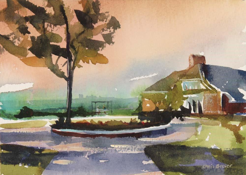 """Casino at Chestnut Ridge Park"" original fine art by Chris Breier"