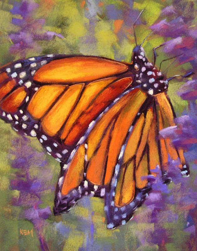 """Top 5 Posts of 2012...Monarch Butterfly Painting Demo"" original fine art by Karen Margulis"