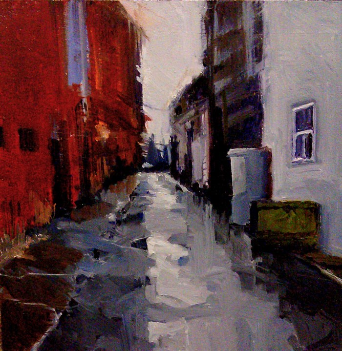"""The Back Alley"" original fine art by Bob Kimball"