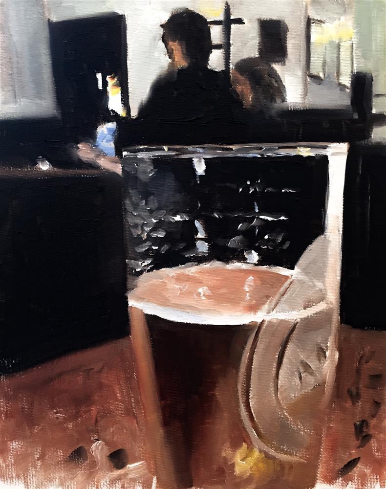 """Half Drunk"" original fine art by James Coates"