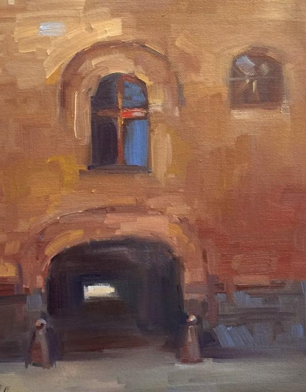 """View from the Deschutes Brewery"" original fine art by Patti McNutt"