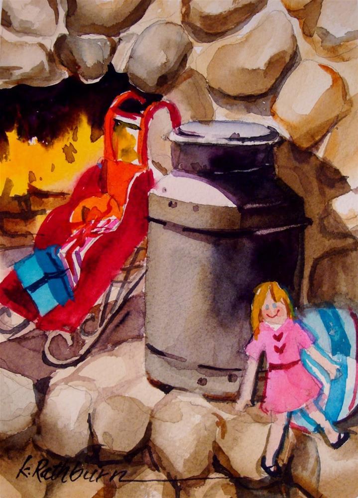"""Christmas Cheer V"" original fine art by Kathy Los-Rathburn"