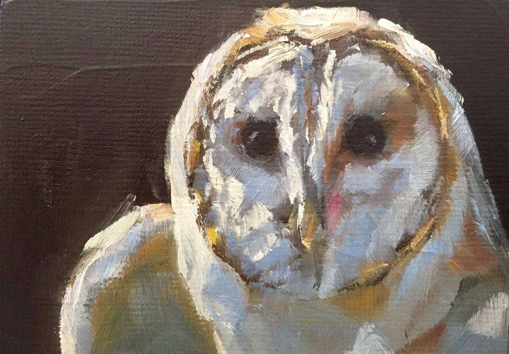 """Owl Portrait"" original fine art by Gary Bruton"