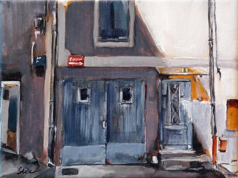 """1639 The Garage at the Castle"" original fine art by Dietmar Stiller"