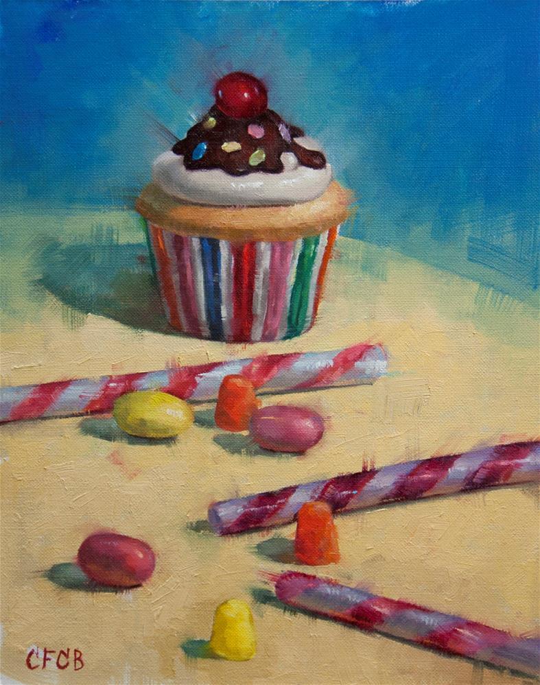 """Cupcake and Candies"" original fine art by Catherine Bobkoski"