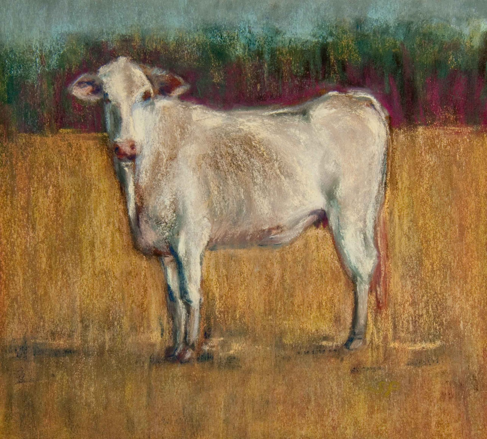 """""""Tapestry Cow"""" original fine art by Sarah Peroutka"""