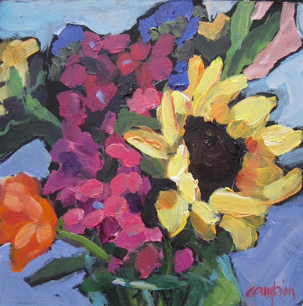 """154 Mixed Bouquet"" original fine art by Diane Campion"