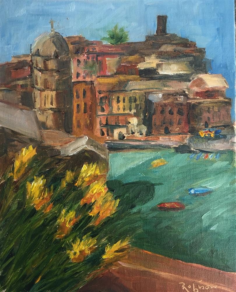 """Vernazza in the Morning"" original fine art by Renee Robison"