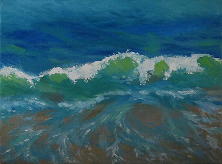 """Backlit Wave"" original fine art by J M Needham"