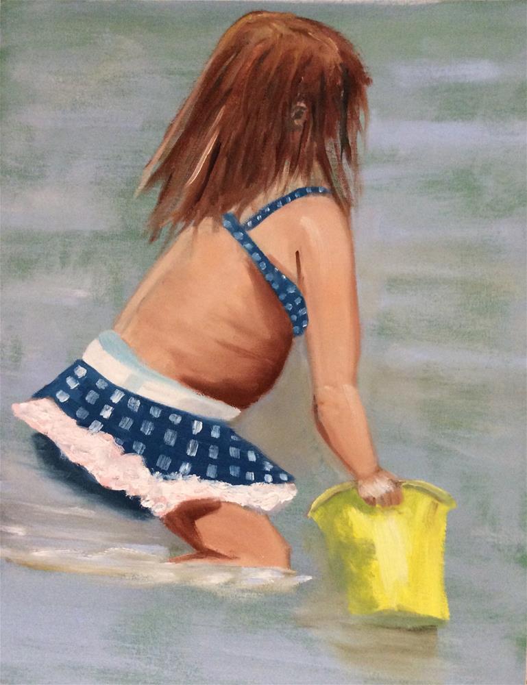 """Yellow Pail 2"" original fine art by Patty Barnes"