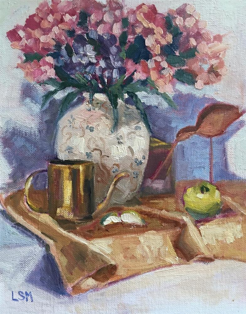 """""""Still life with Gold Cup"""" original fine art by Linda Marino"""