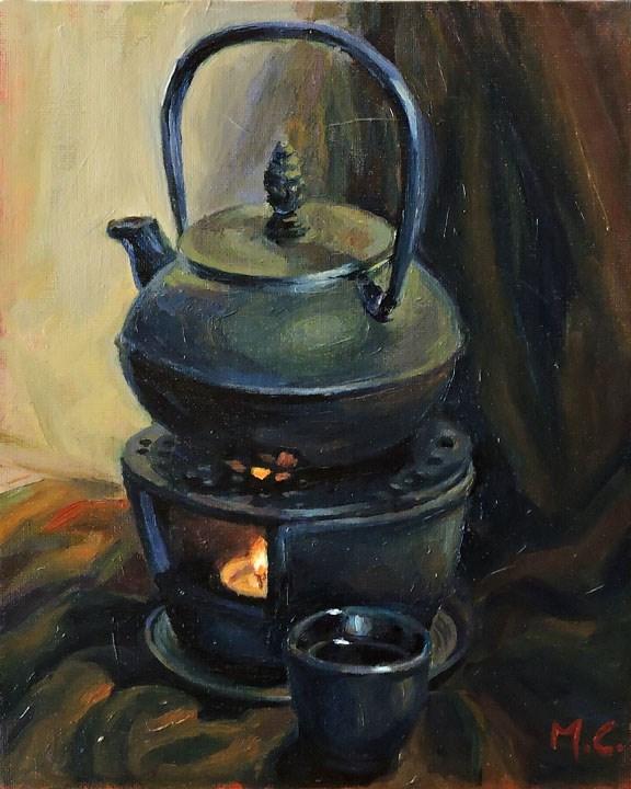 """Steam Pot"" original fine art by Michelle chen"