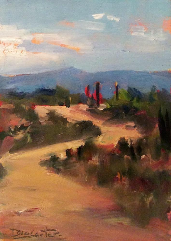 """""""Desert Trail """" original fine art by Doug Carter"""