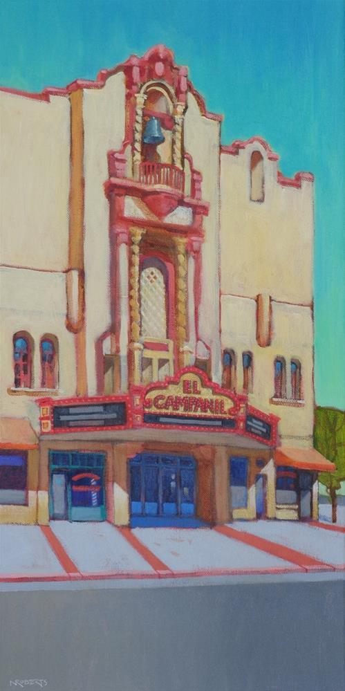 """El Campanil, Rivertown"" original fine art by Nancy Roberts"