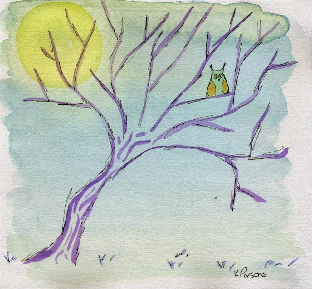 """""""Things Happen at Night"""" original fine art by Kali Parsons"""