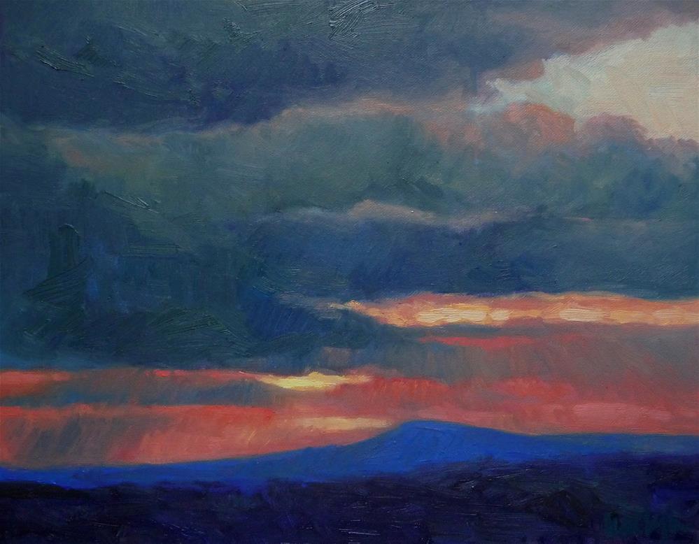 """Taos Sunset"" original fine art by Lisa Kyle"