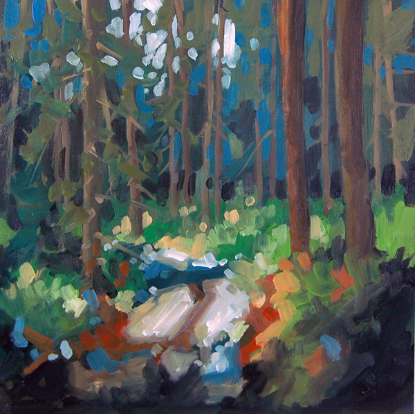 """""""No 347 Into the Forest"""" original fine art by Robin J Mitchell"""