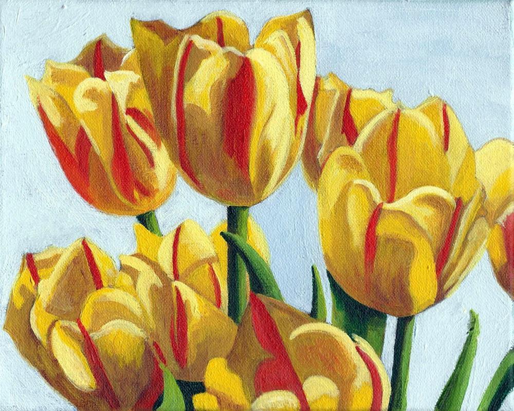 """Lauren's Tulips"" original fine art by Lisa Wiertel"