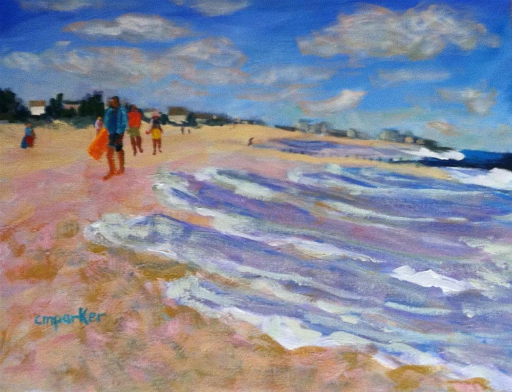"""Beach"" original fine art by Christine Parker"
