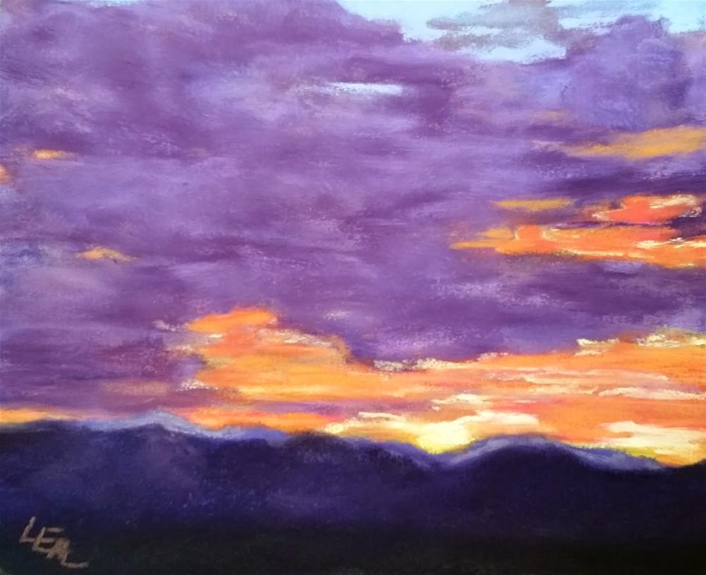 """Big's Utah Sky #2"" original fine art by Anna Lisa Leal"