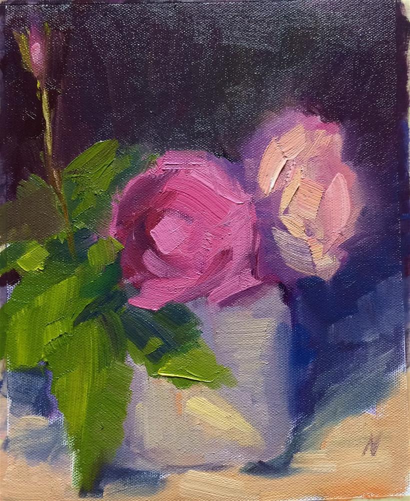 """Roses-2-"" original fine art by Naomi Bautista"