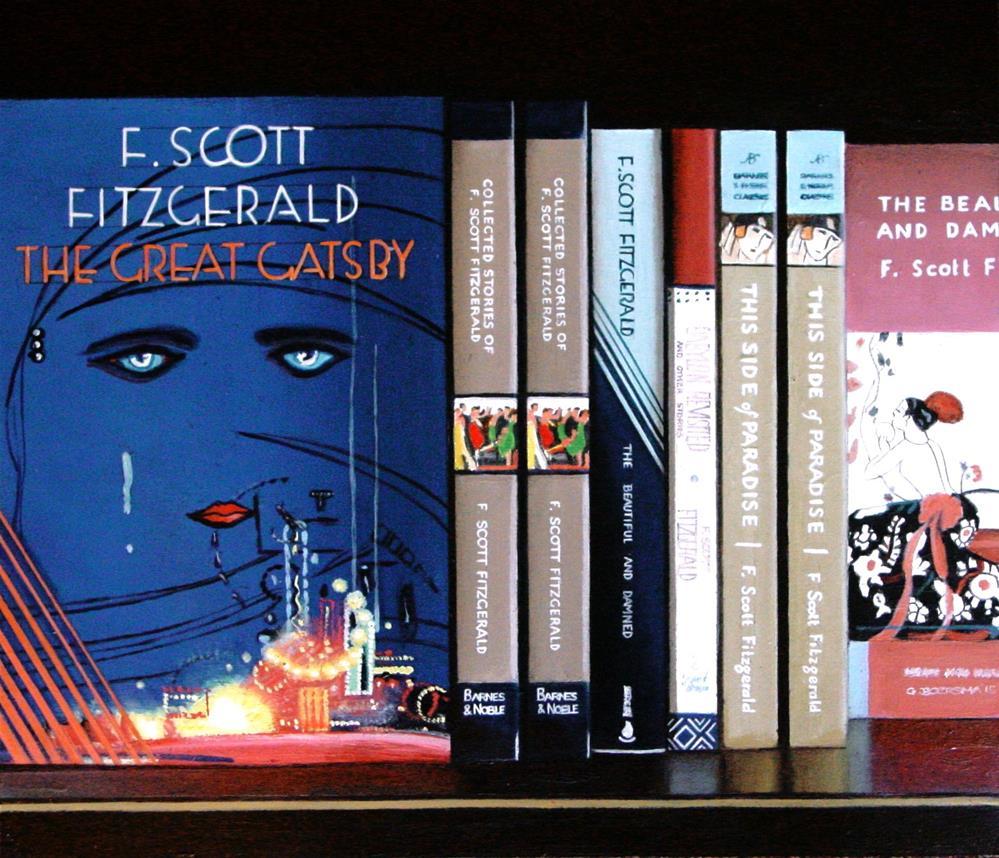 """Great Gatsby- Still Life Painting Of Books By F. Scott Fitzgerald"" original fine art by Gerard Boersma"