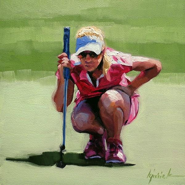 """""""Honing In"""" original fine art by Karin Jurick"""