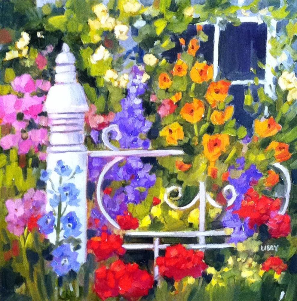"""Summer Gate"" original fine art by Libby Anderson"
