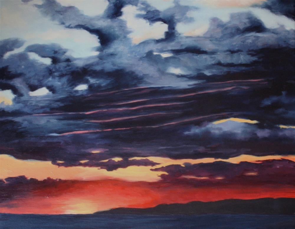 """Petoskey Sky"" original fine art by Shannon Bauer"